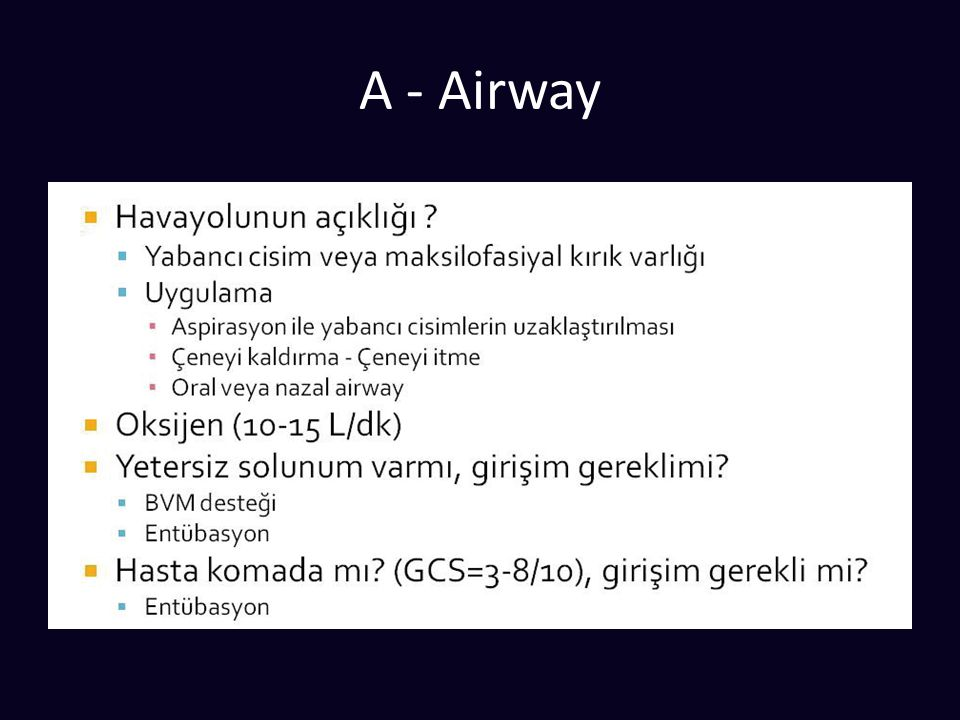 A - Airway