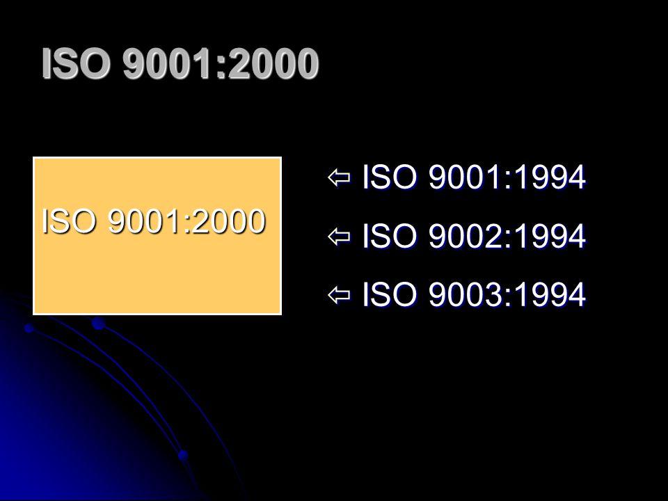 ISO 9001:2000 ISO 9001:1994 ISO 9002:1994 ISO 9003:1994 ISO 9001:2000