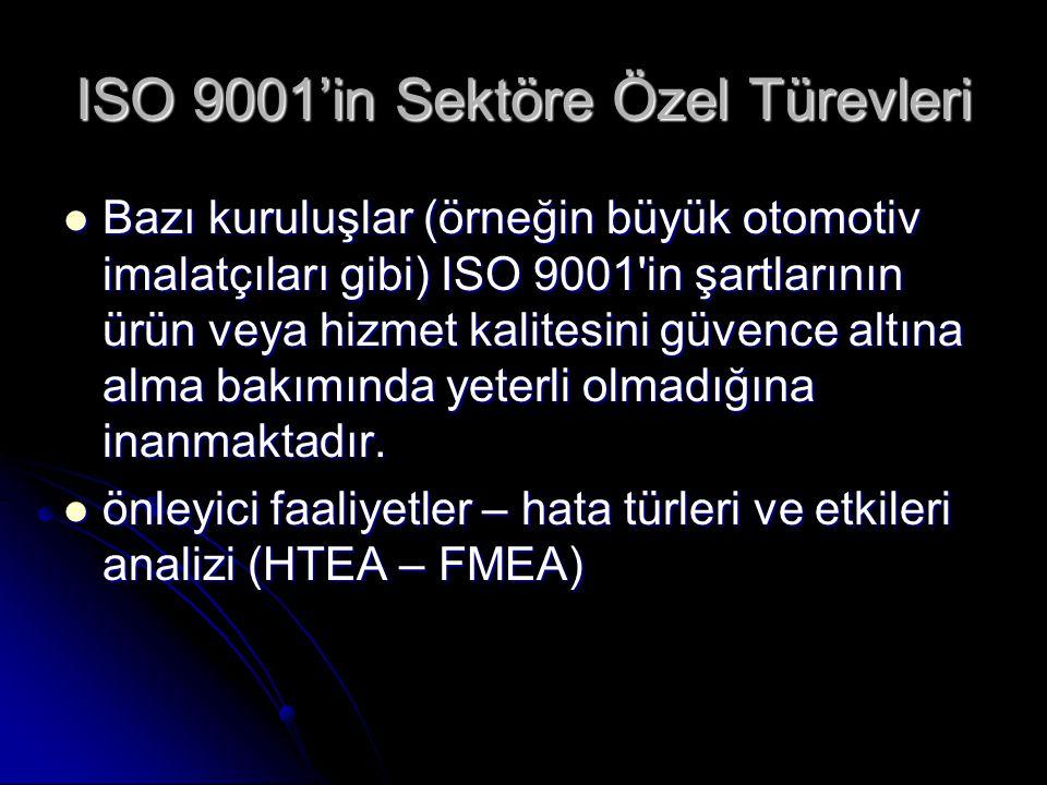 ISO 9001'in Sektöre Özel Türevleri