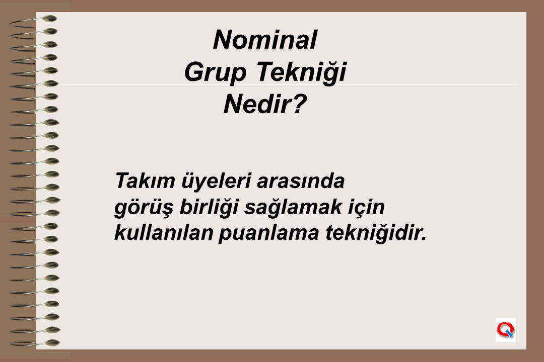Nominal Grup Tekniği Nedir