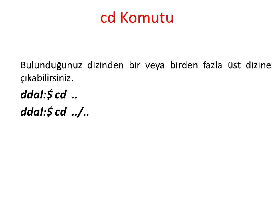 cd Komutu ddal:$ cd .. ddal:$ cd ../..
