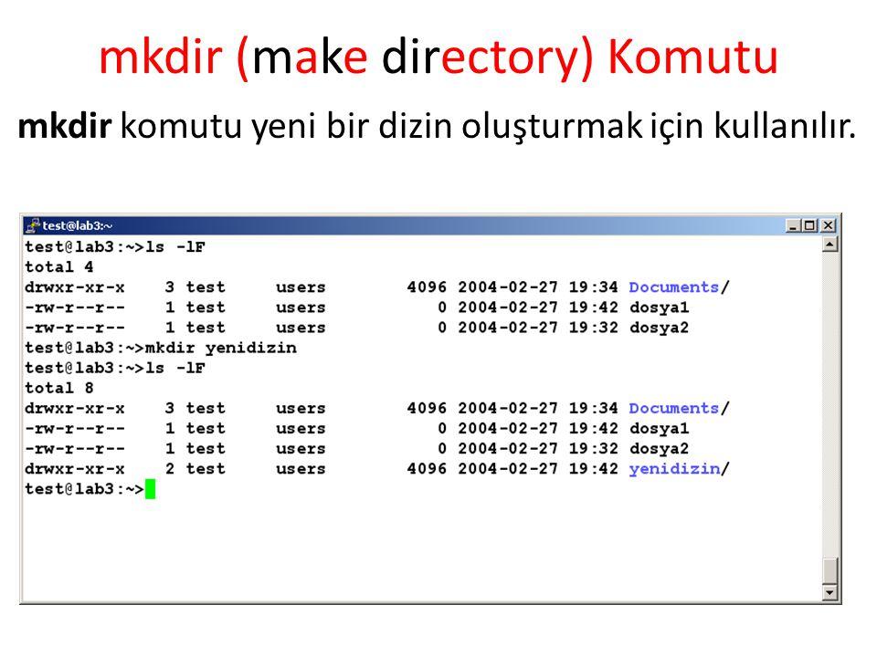 mkdir (make directory) Komutu