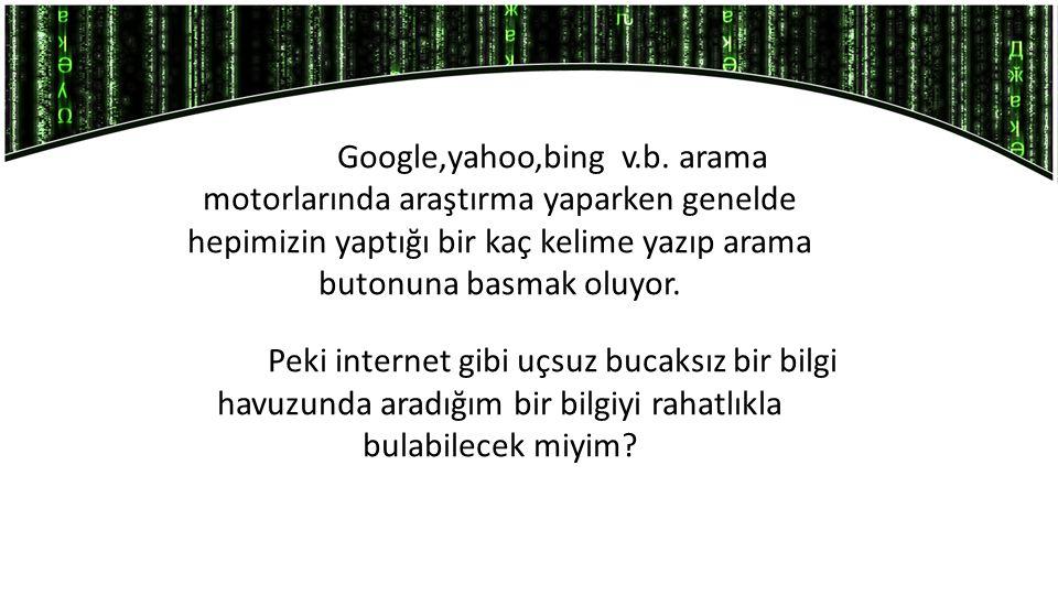 Google,yahoo,bing v.b.