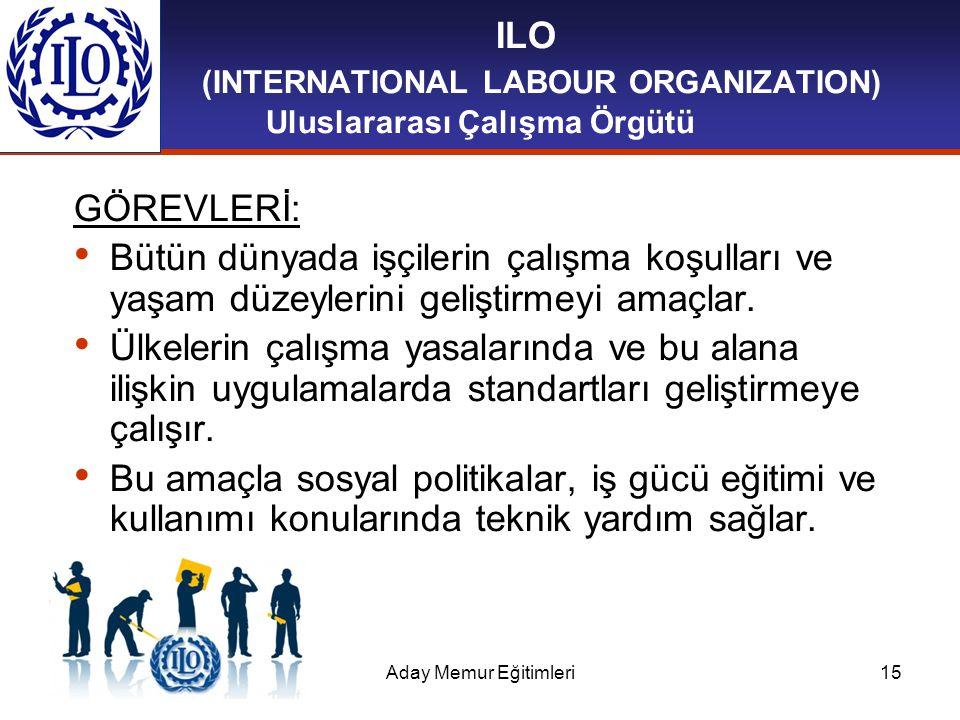 ILO (INTERNATIONAL LABOUR ORGANIZATION) Uluslararası Çalışma Örgütü