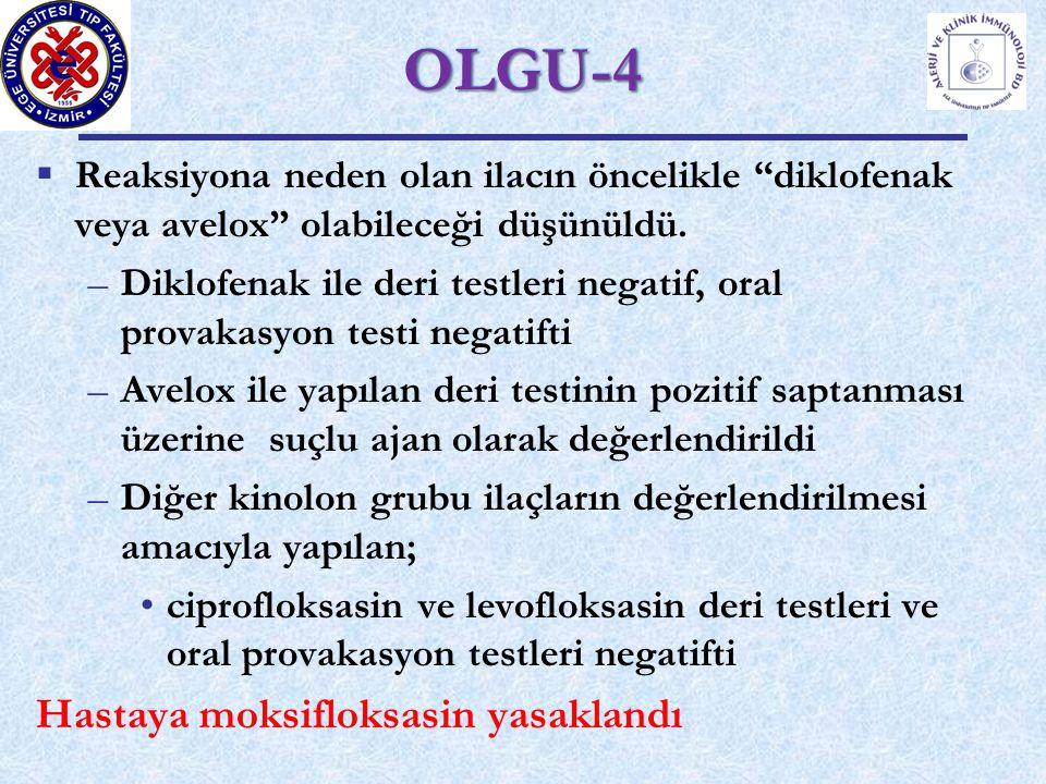 OLGU-4 Hastaya moksifloksasin yasaklandı