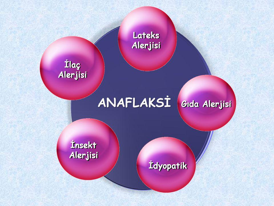 ANAFLAKSİ Lateks Alerjisi İlaç Alerjisi Gıda Alerjisi İnsekt Alerjisi