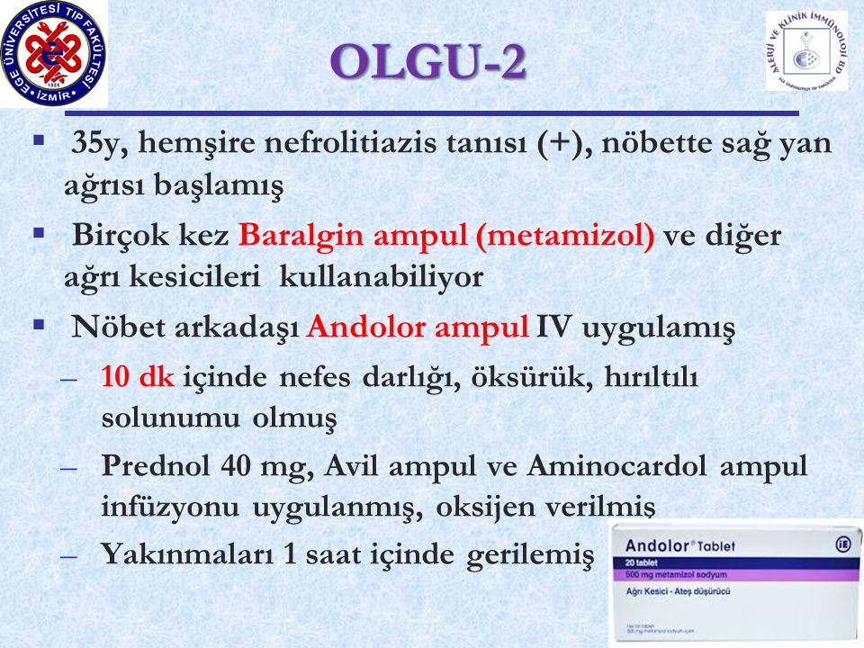 OLGU-2 35y, hemşire nefrolitiazis tanısı (+), nöbette sağ yan ağrısı başlamış.