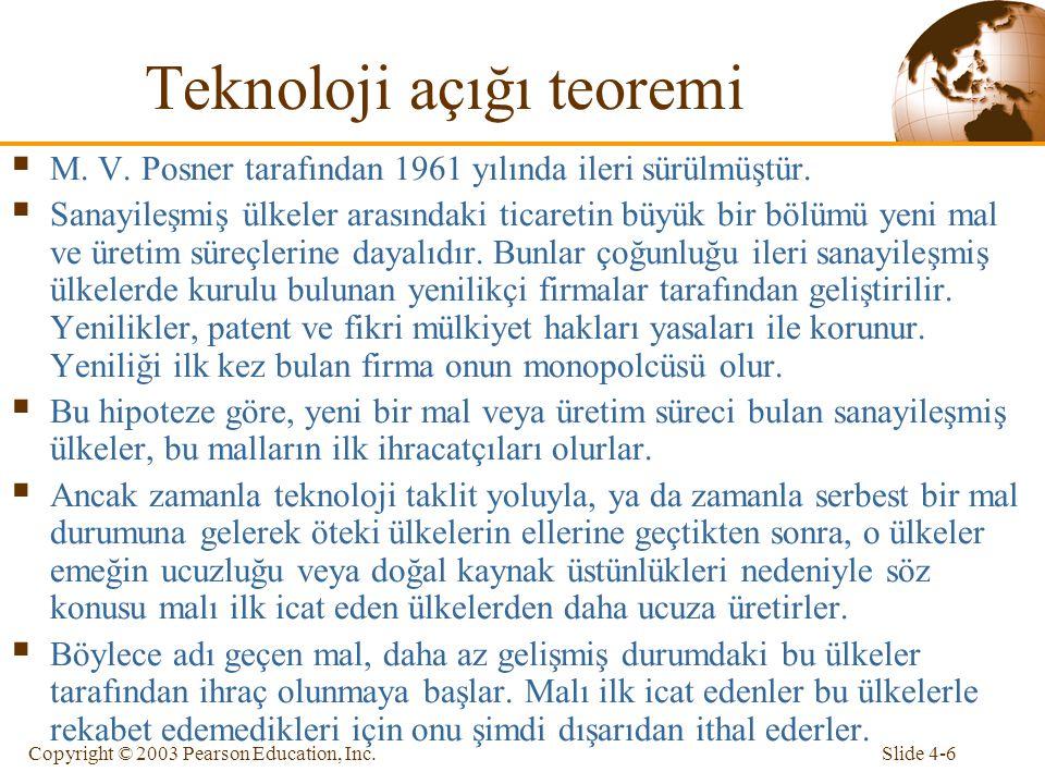 Teknoloji açığı teoremi