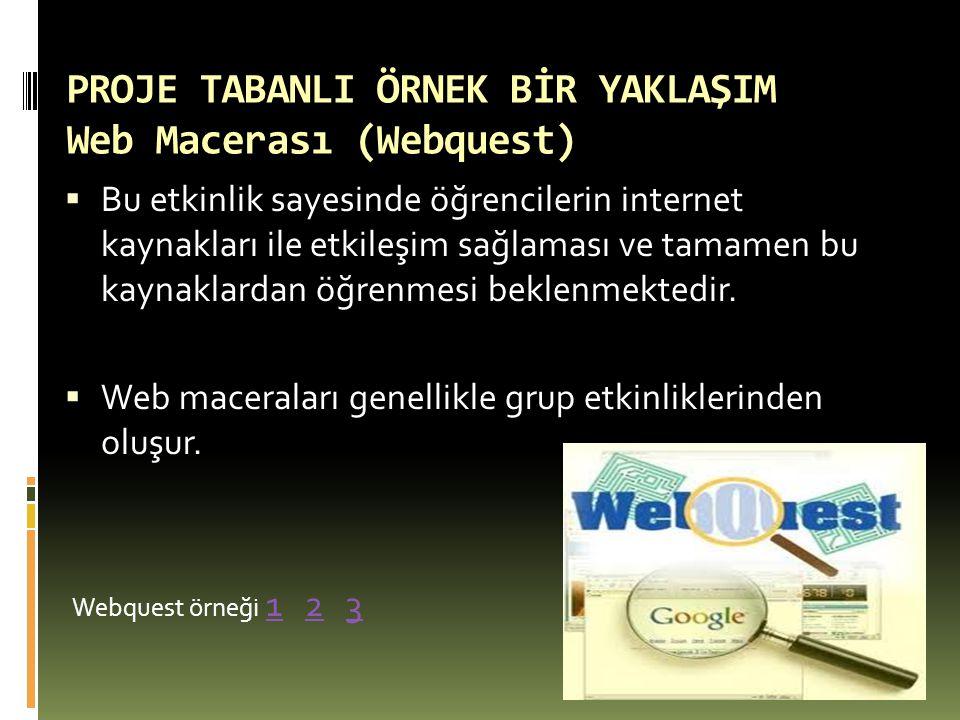 PROJE TABANLI ÖRNEK BİR YAKLAŞIM Web Macerası (Webquest)