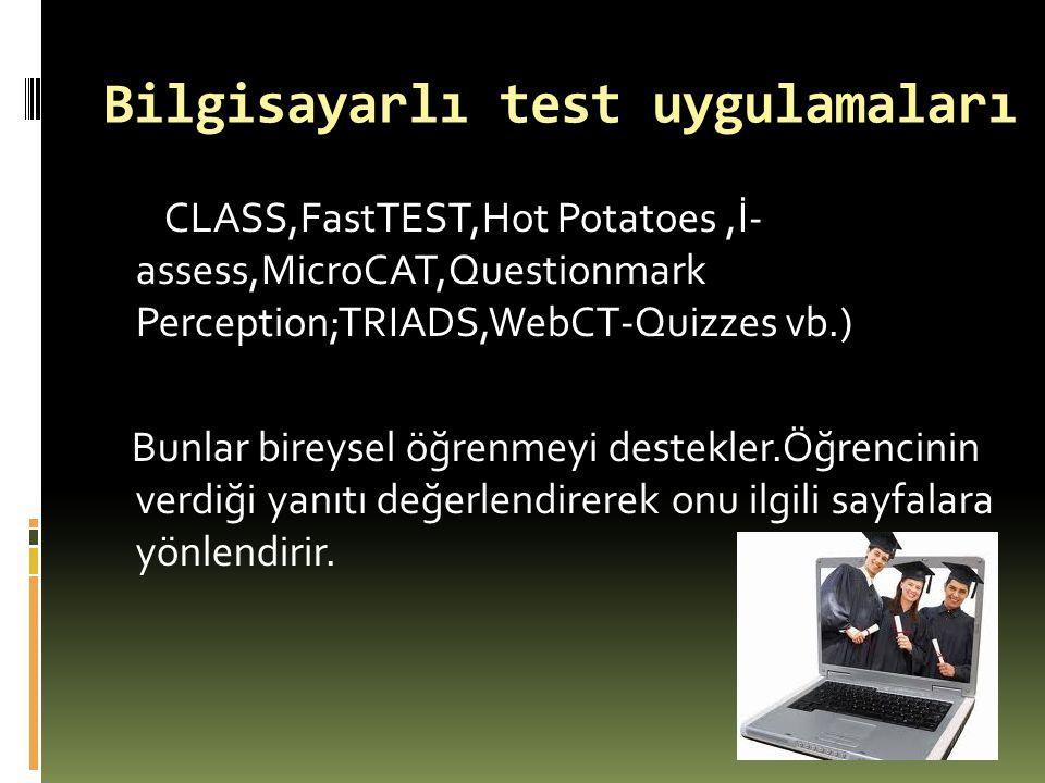 Bilgisayarlı test uygulamaları