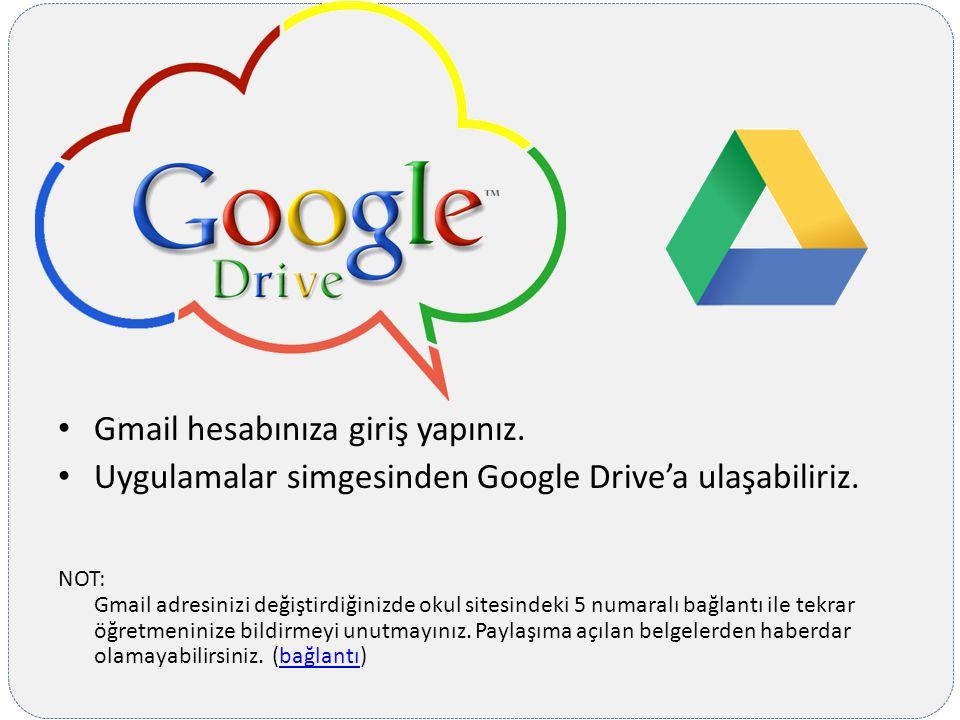 Gmail hesabınıza giriş yapınız.