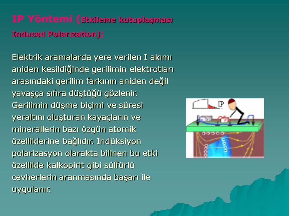 IP Yöntemi (Etkileme kutuplaşması Induced Polarızation);