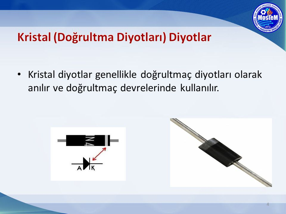 Kristal (Doğrultma Diyotları) Diyotlar