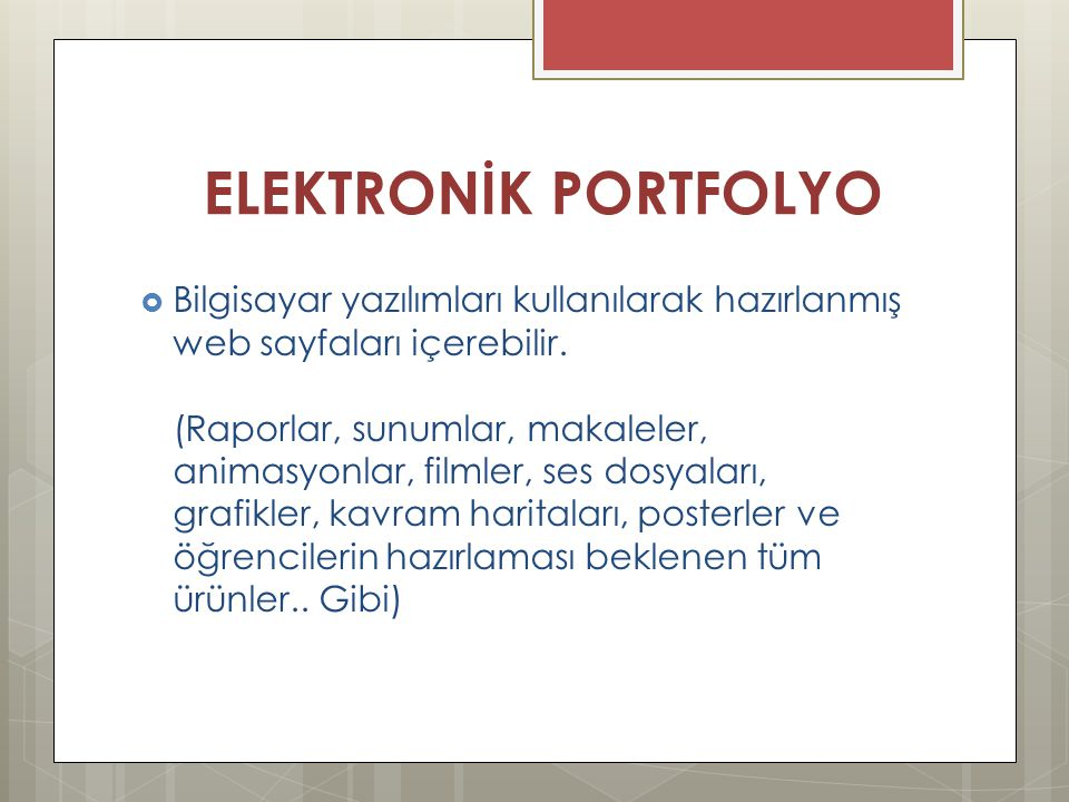 ELEKTRONİK PORTFOLYO