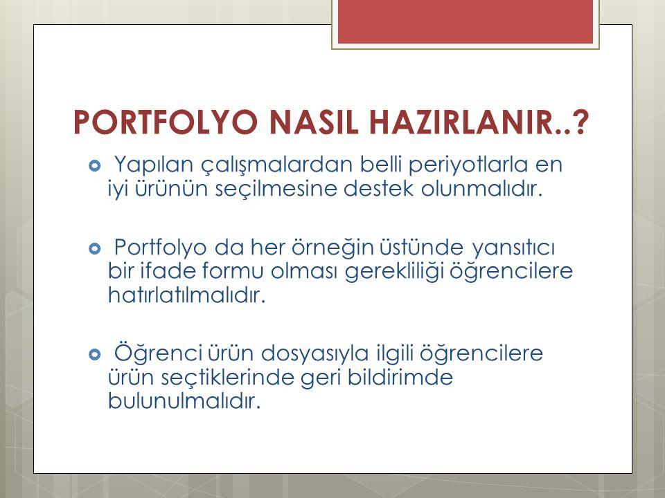 PORTFOLYO NASIL HAZIRLANIR..