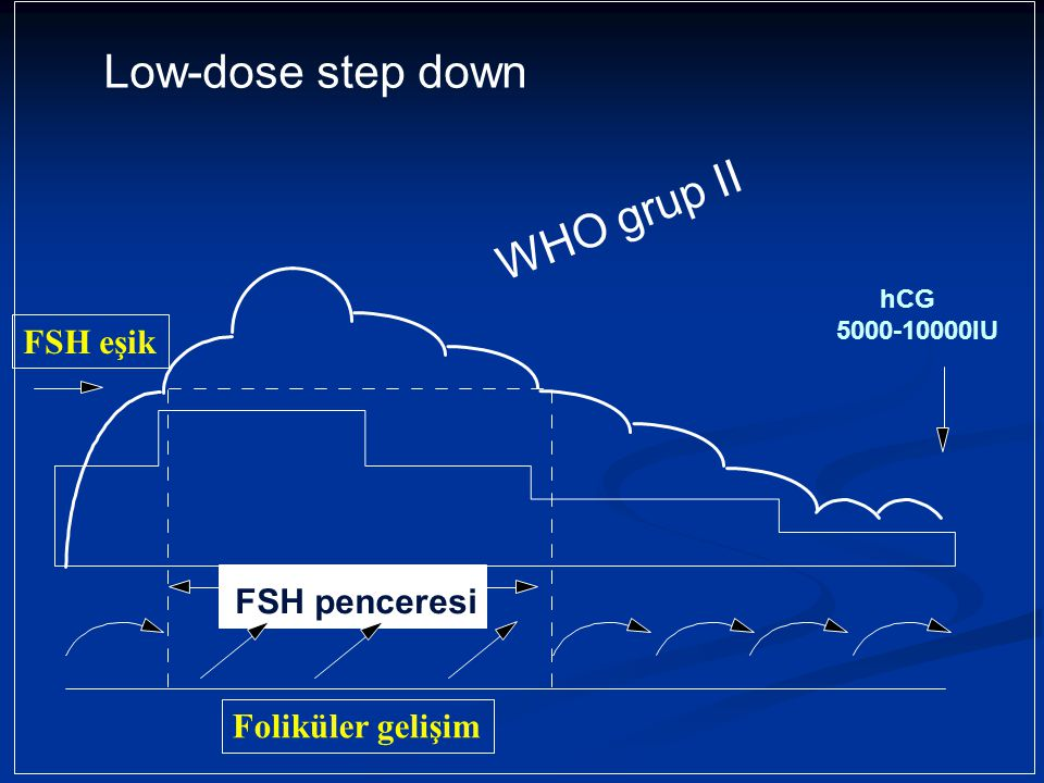 Low-dose step down WHO grup II FSH eşik FSH penceresi