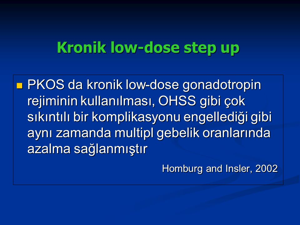 Kronik low-dose step up