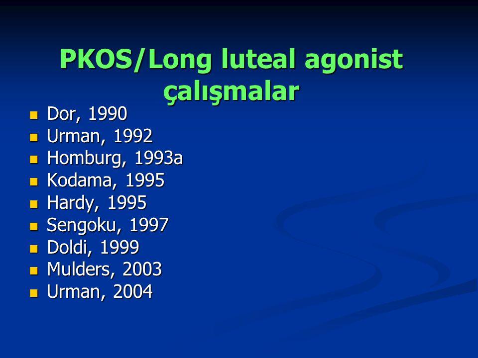 PKOS/Long luteal agonist çalışmalar