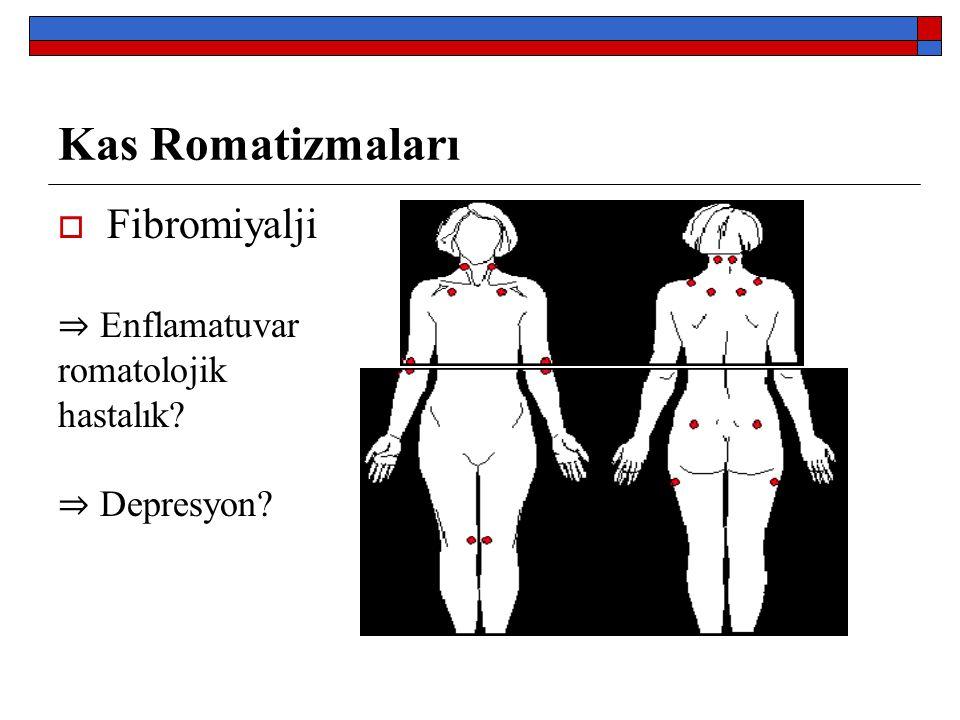 Kas Romatizmaları Fibromiyalji ⇒ Enflamatuvar romatolojik hastalık