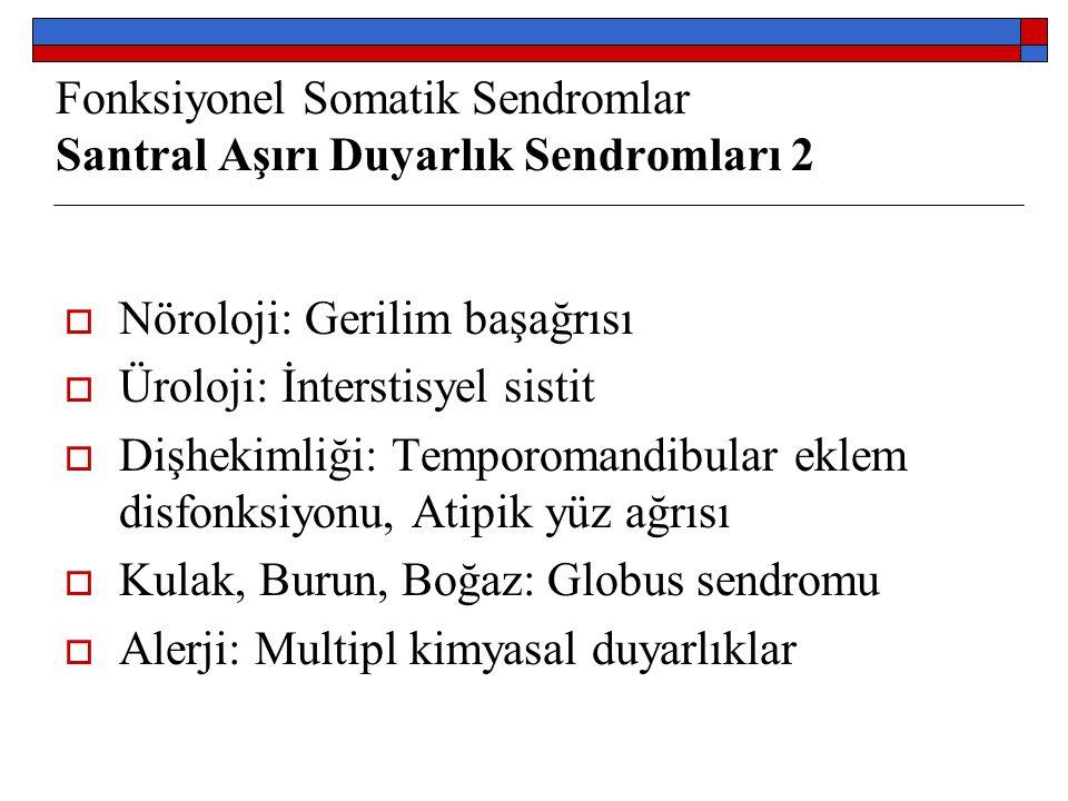Fonksiyonel Somatik Sendromlar Santral Aşırı Duyarlık Sendromları 2