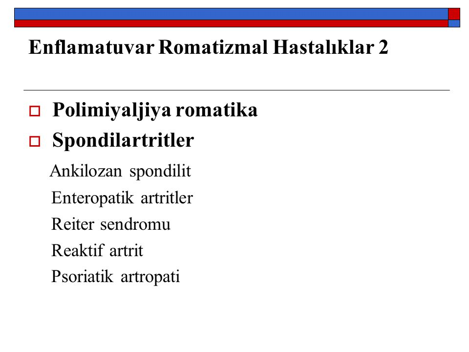 Enflamatuvar Romatizmal Hastalıklar 2