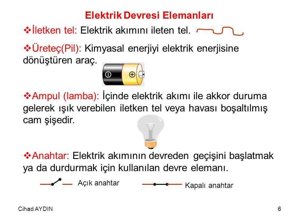 Elektrik Devresi Elemanları