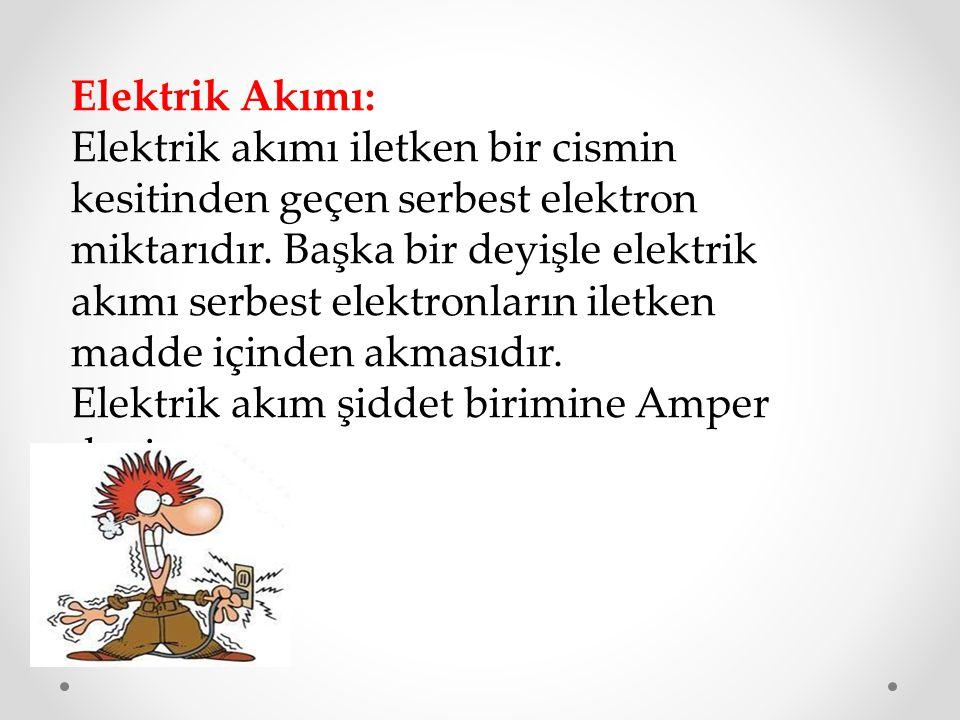 Elektrik akım şiddet birimine Amper denir.