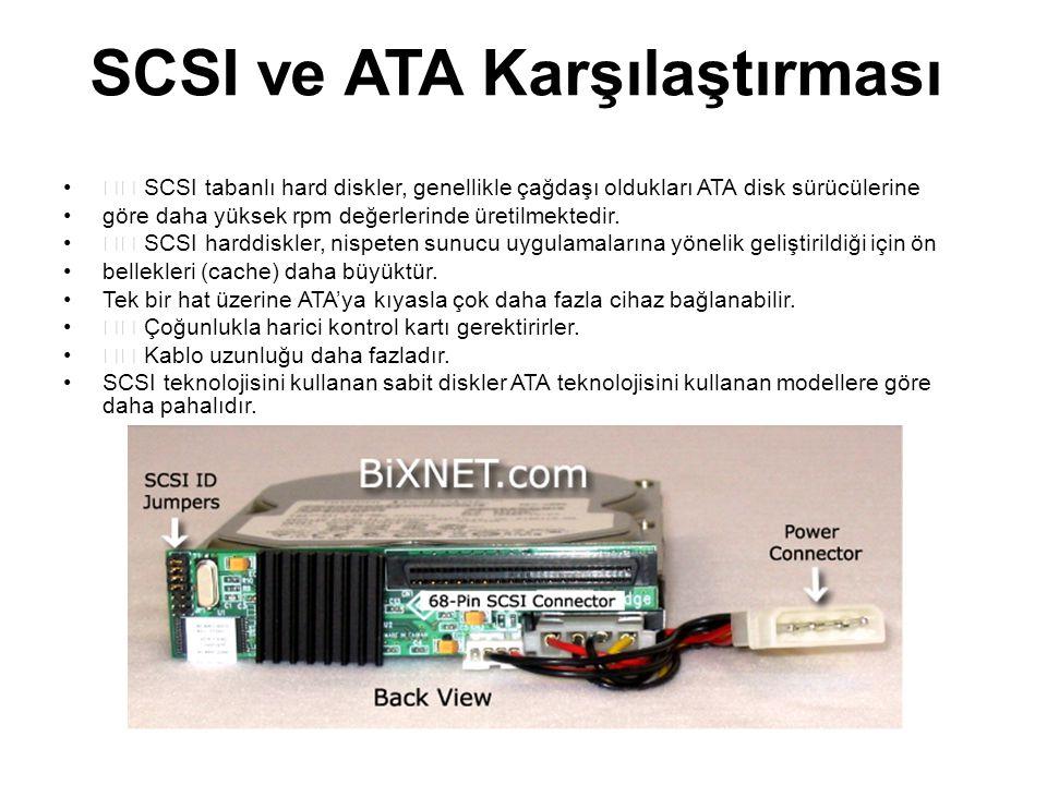 SCSI ve ATA Karşılaştırması