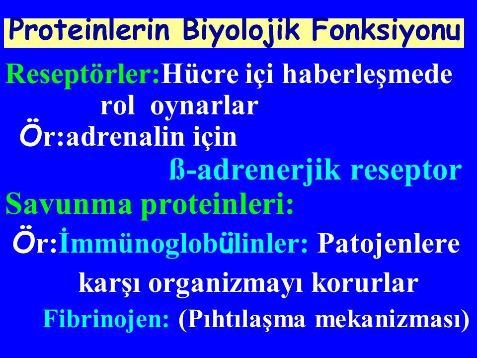 Savunma proteinleri: Proteinlerin Biyolojik Fonksiyonu
