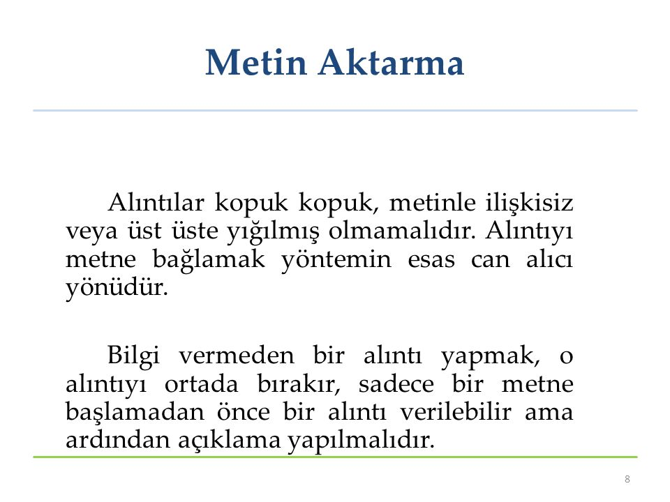 Metin Aktarma
