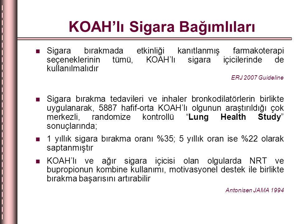 KOAH'lı Sigara Bağımlıları