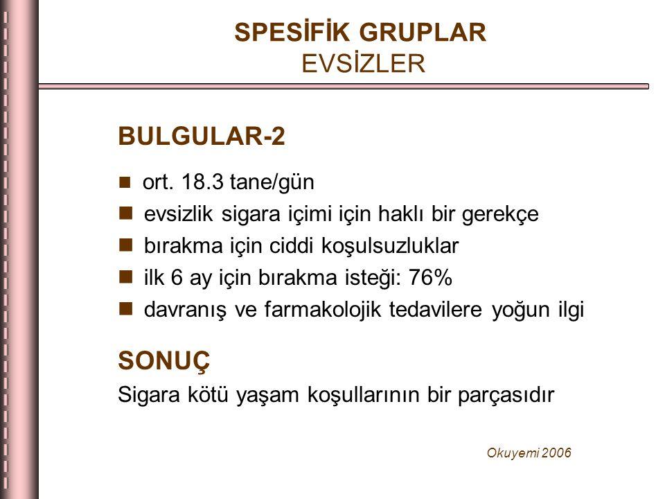 SPESİFİK GRUPLAR EVSİZLER