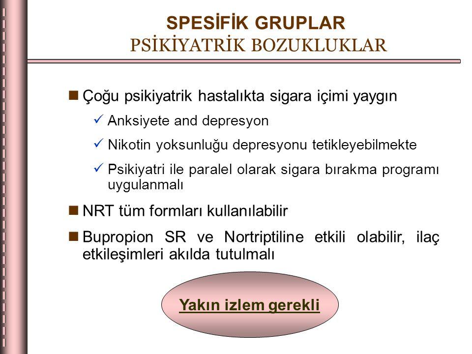 SPESİFİK GRUPLAR PSİKİYATRİK BOZUKLUKLAR