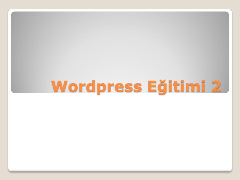 Wordpress Eğitimi 2