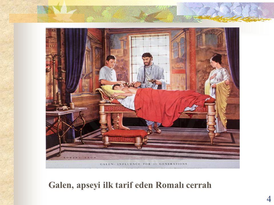 Galen, apseyi ilk tarif eden Romalı cerrah