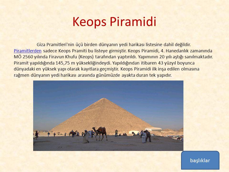 Keops Piramidi başlıklar