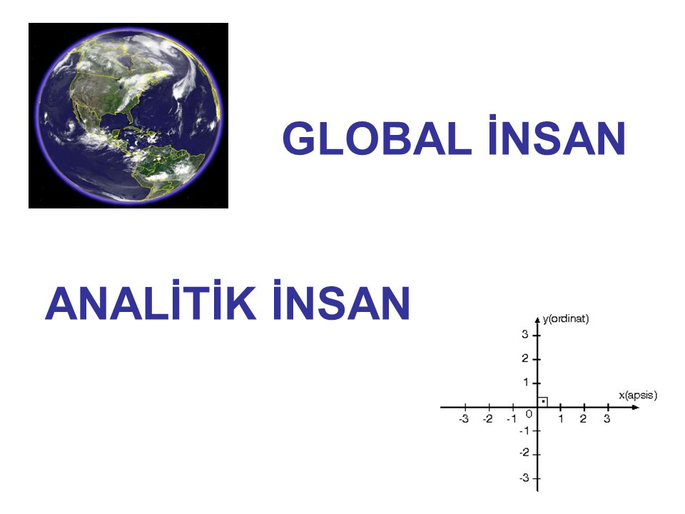 GLOBAL İNSAN ANALİTİK İNSAN