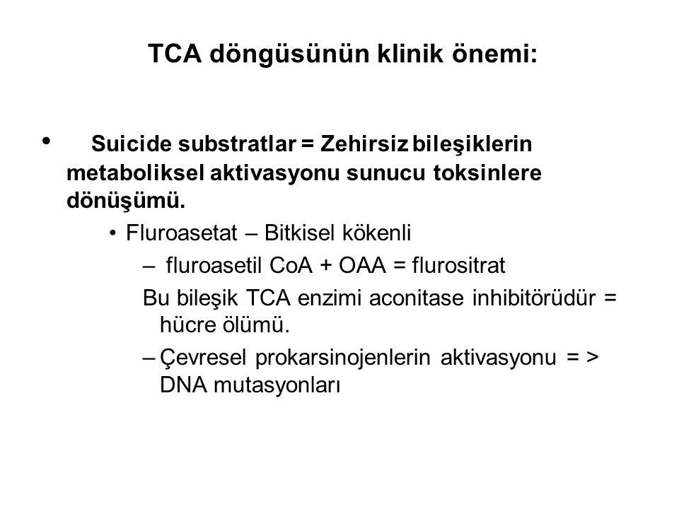 TCA döngüsünün klinik önemi:
