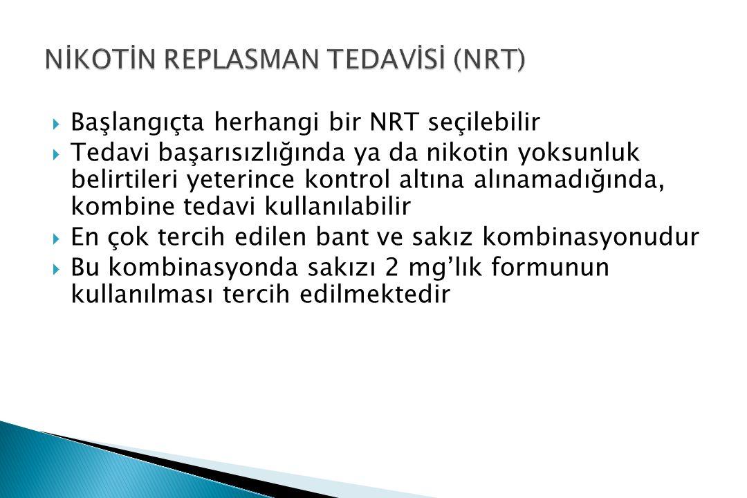 NİKOTİN REPLASMAN TEDAVİSİ (NRT)