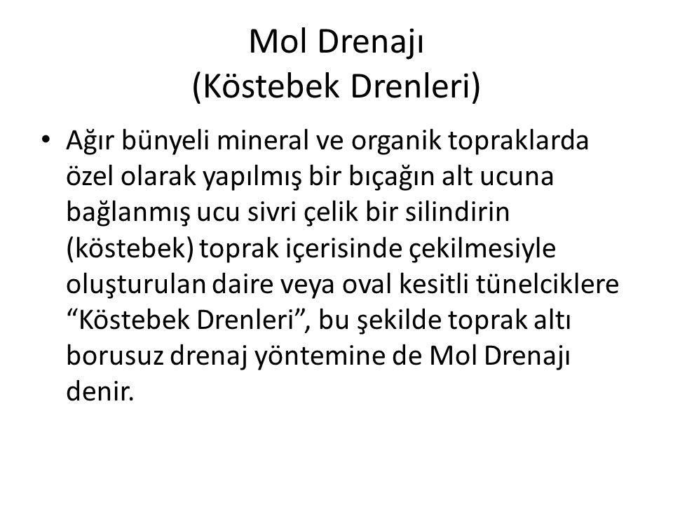 Mol Drenajı (Köstebek Drenleri)