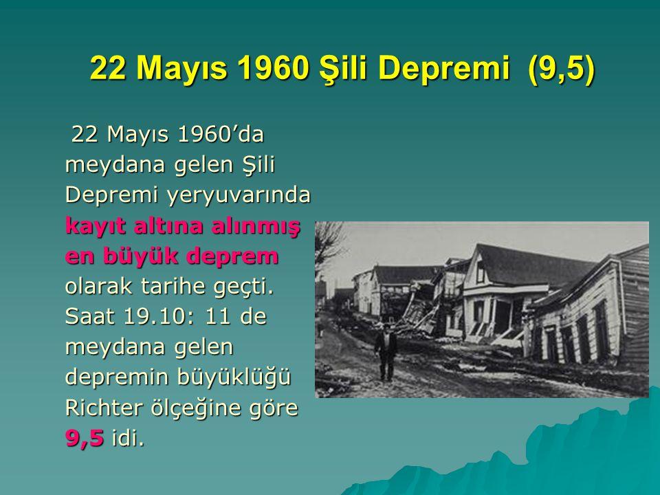 22 Mayıs 1960 Şili Depremi (9,5)