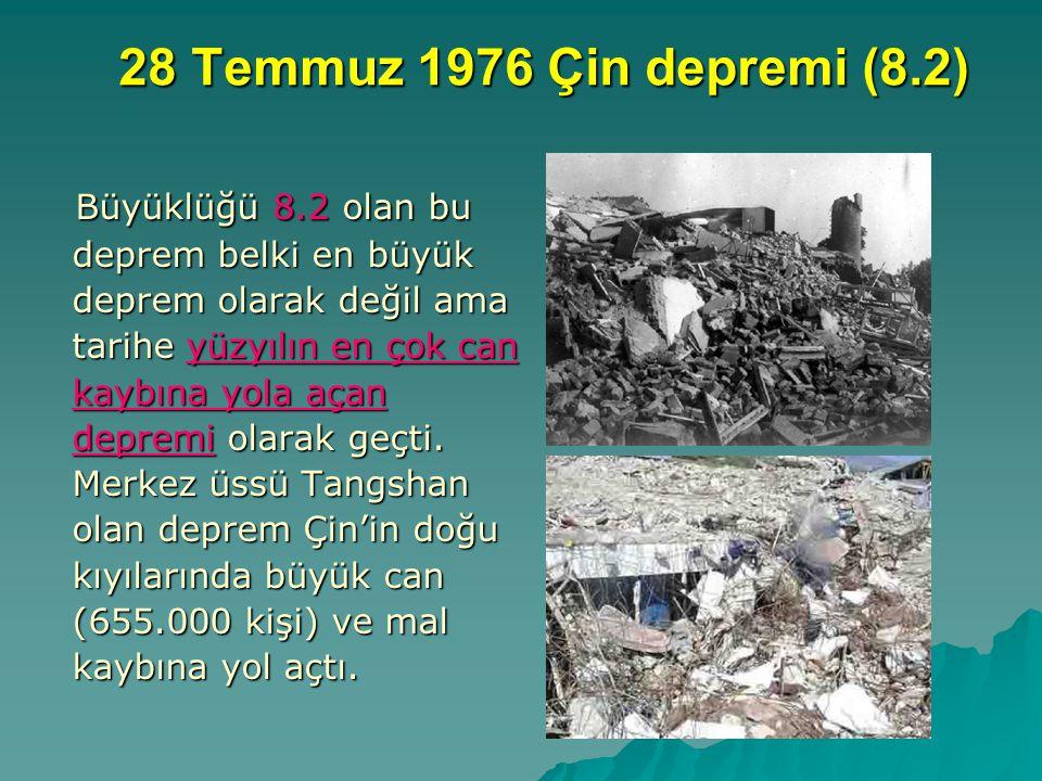 28 Temmuz 1976 Çin depremi (8.2)