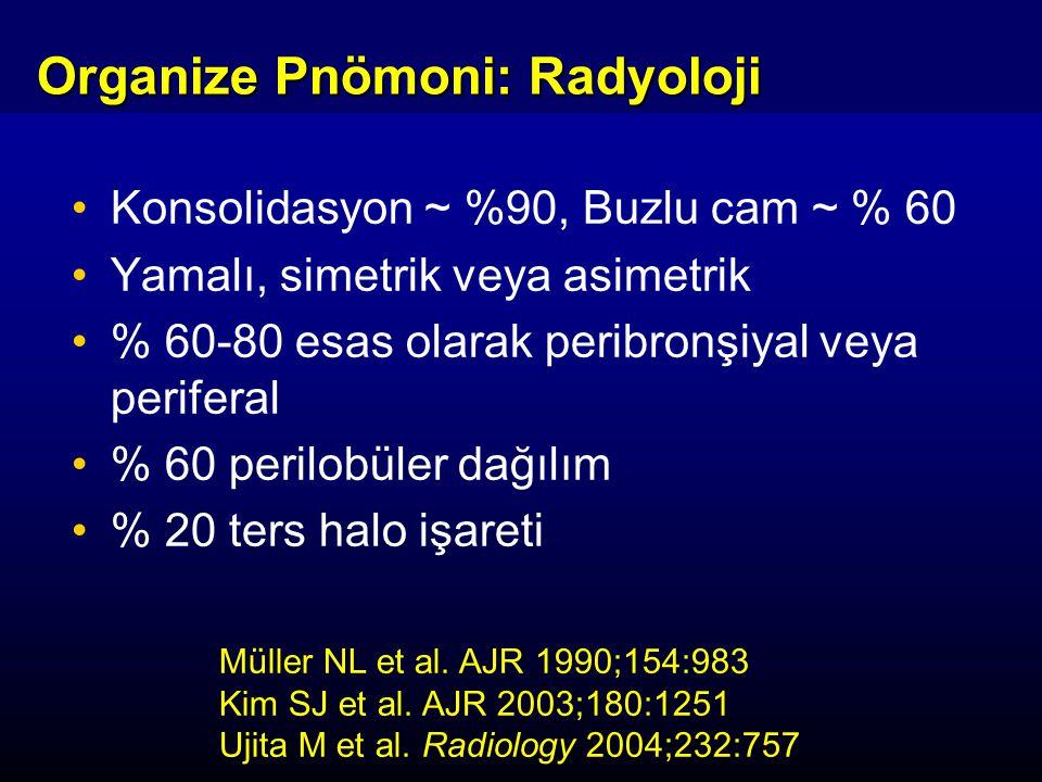Organize Pnömoni: Radyoloji