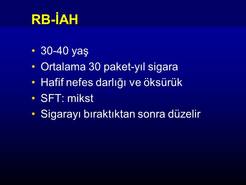 RB-İAH 30-40 yaş Ortalama 30 paket-yıl sigara