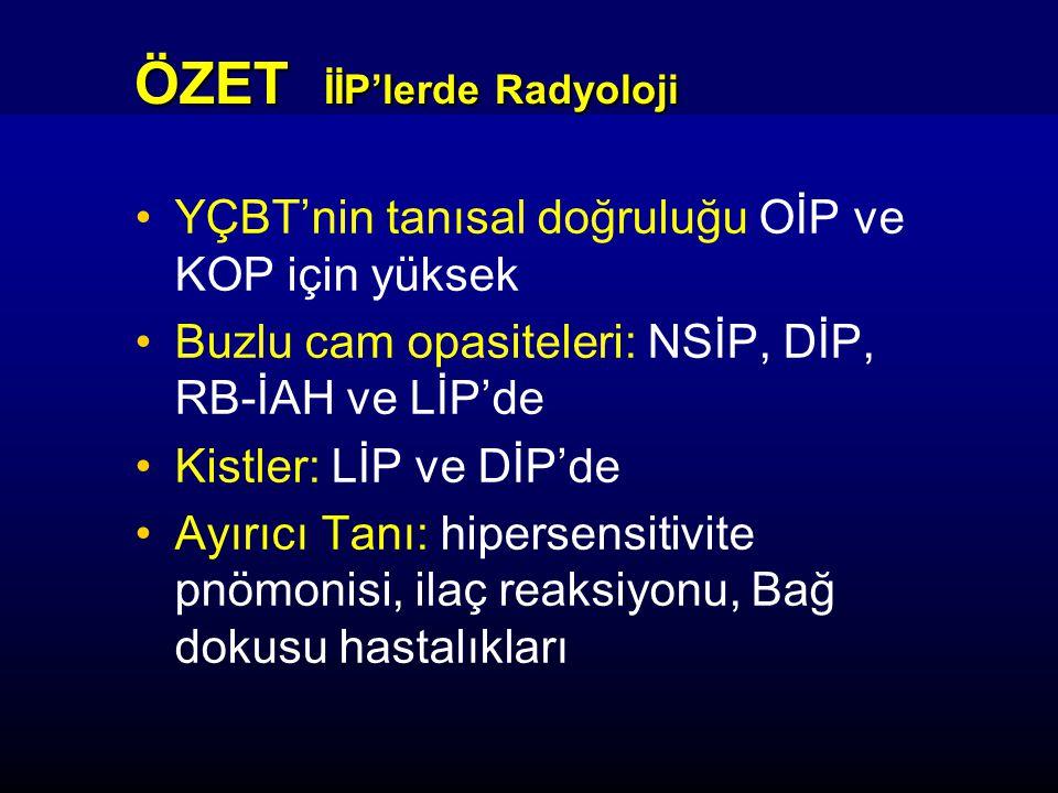 ÖZET İİP'lerde Radyoloji
