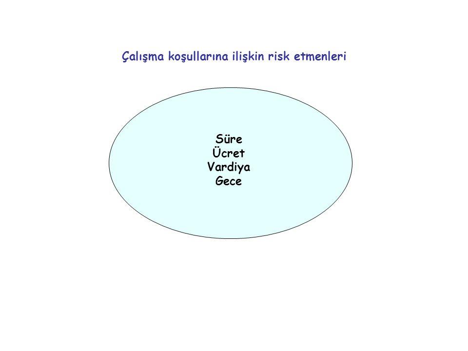 Çalışma koşullarına ilişkin risk etmenleri