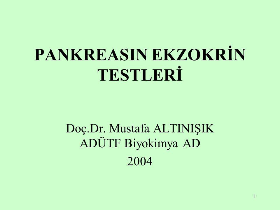 PANKREASIN EKZOKRİN TESTLERİ