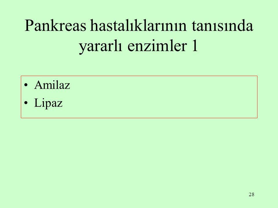 Pankreas hastalıklarının tanısında yararlı enzimler 1