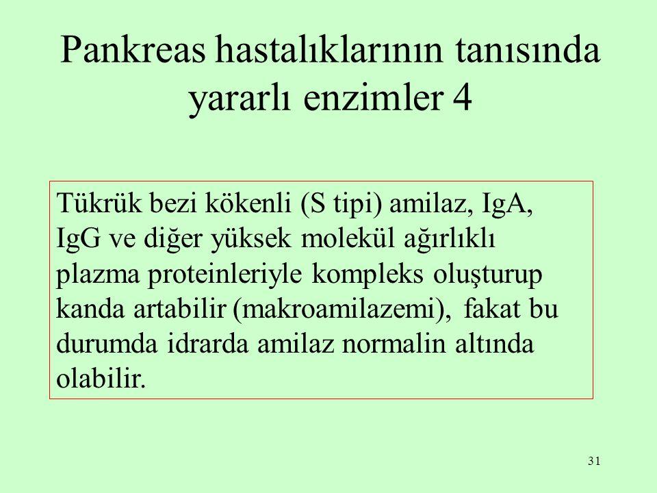 Pankreas hastalıklarının tanısında yararlı enzimler 4