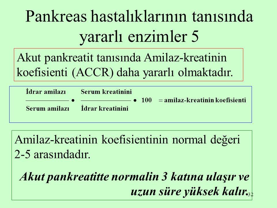 Pankreas hastalıklarının tanısında yararlı enzimler 5